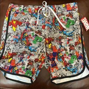 Marvel swimming trunks size  brand new